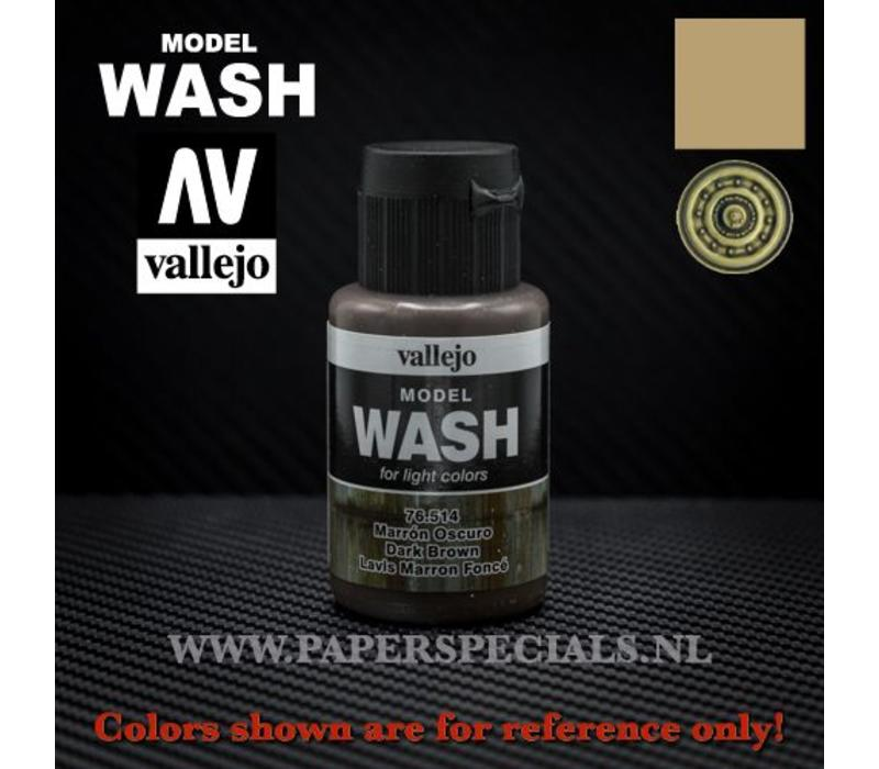 Vallejo - Model Wash 35ml - 76.514 Dark Brown