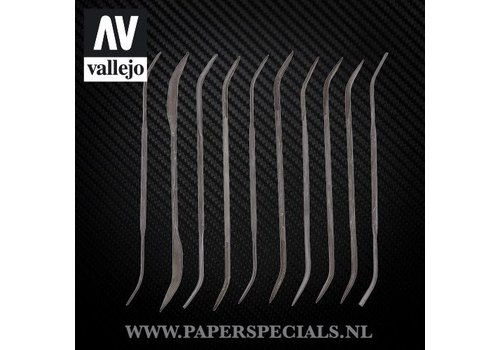 Vallejo Vallejo - Modeling curved files - Set of 10