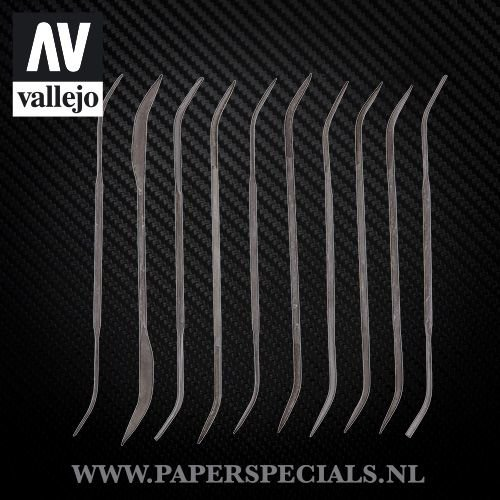 Vallejo - Modeling curved files - Set of 10