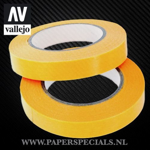 Vallejo - Precision Masking Tape 10mm - 2 rolls of 18 meter