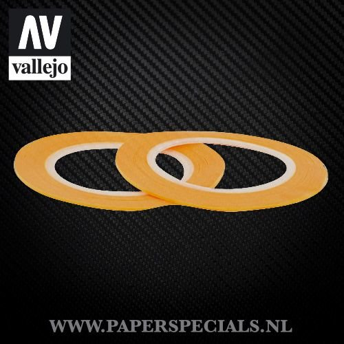 Vallejo - Precision Masking Tape 1mm - 2 rolls of 18 meter