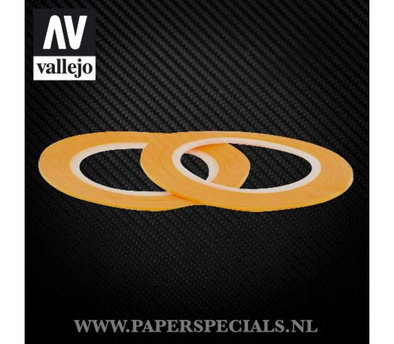 Vallejo - Precision Masking Tape 1mm - 2 rollen van 18 meter