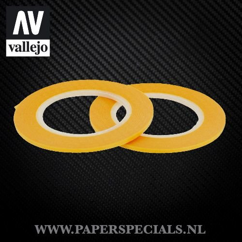 Vallejo - Precision Masking Tape 2mm - 2 rolls of 18 meter