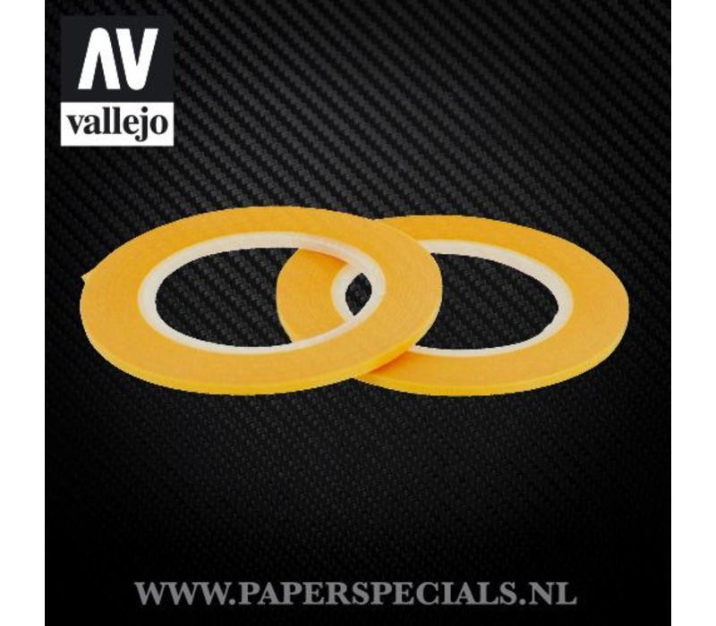 Vallejo - Precision Masking Tape 2mm - 2 rollen van 18 meter