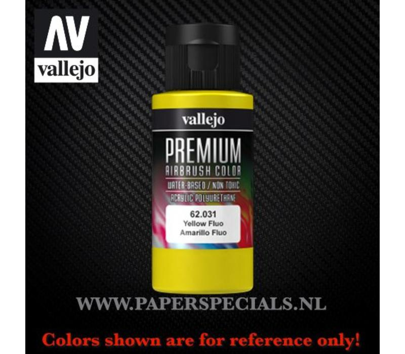 Vallejo - Premium RC Color 60ML - 62.031 Fluorescent Yellow