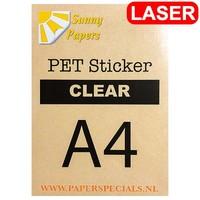 Laser - Sunny PET sticker (watervast) - A4 – per vel