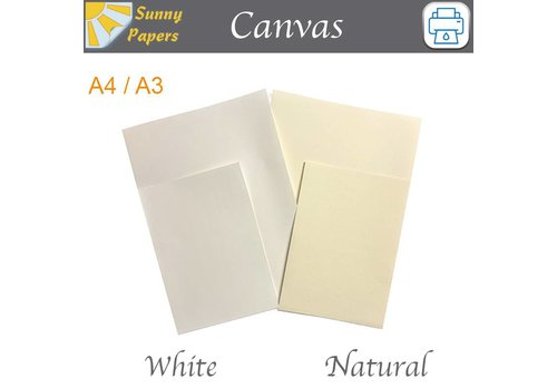 Sunny Papers Inkjet - Sunny Canvas - Per 5 Sheets