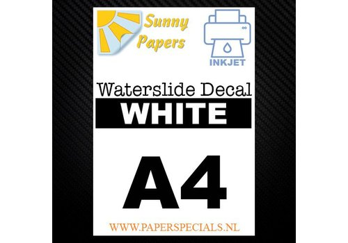 Sunny Papers Inkjet - Waterslide Decal papier -  A4 -  Wit  - per vel