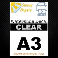 Inkjet - Sunny Waterslide Decal paper - A3 – per sheet