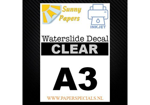 Sunny Papers Inkjet | Waterslide Decal Paper | Clear | A3