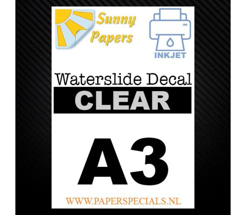 Inkjet | Sunny Waterslide Decal Papier | Transparant | A3