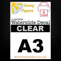 Laser - Sunny Waterslide decal paper - A3 - per sheet