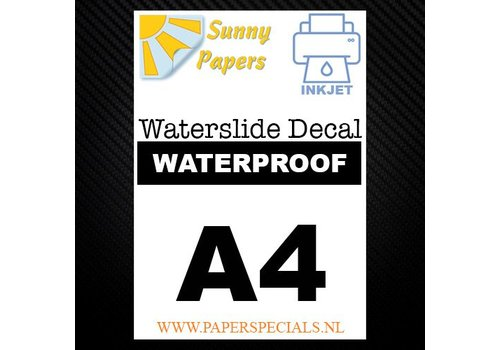 Sunny Papers Inkjet | Waterslide Decal Paper WATERPROOF | White | A4