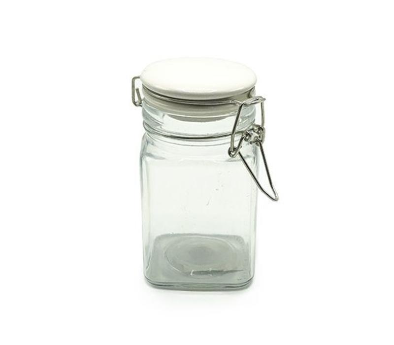 Glazen Weckpot - vierkant 260ml