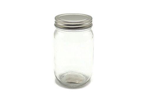 Vaessen Creative Glazen Schroefdeksel Pot - rond 195ml