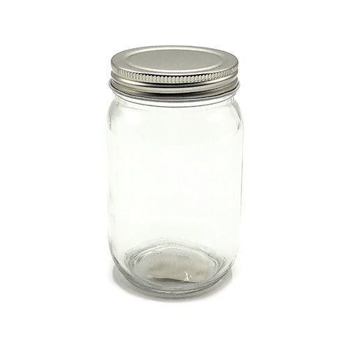 Glass Screw lid Jar - round 195ml