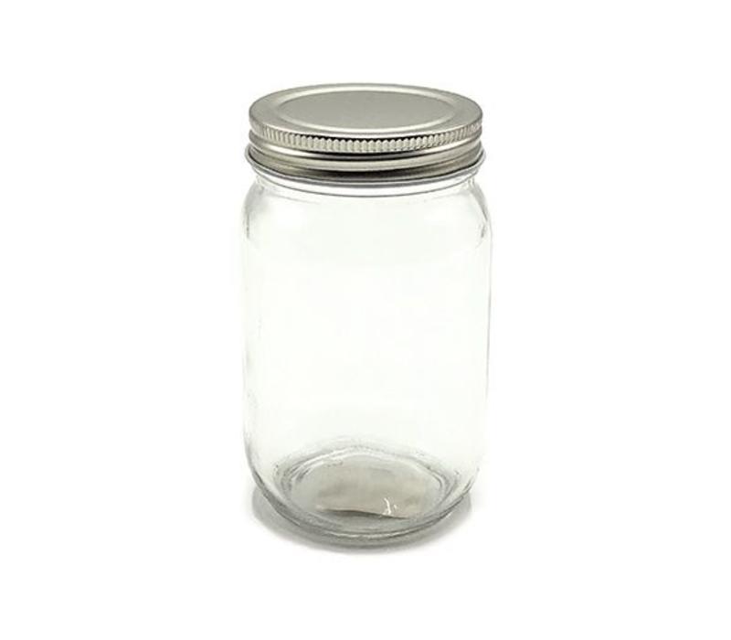 Glazen Schroefdeksel Pot - rond 195ml