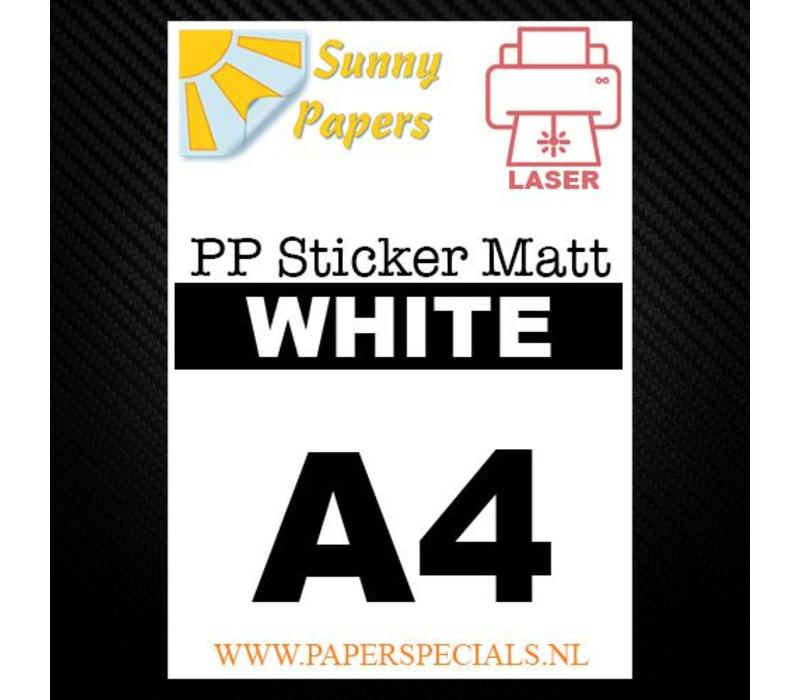 Laser - Sunny PP sticker (waterproof) - White Matt – per sheet