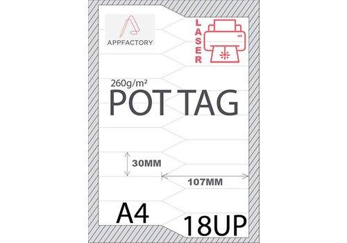 AppFactory Pot Tag 195µ A4 -18st p/vel