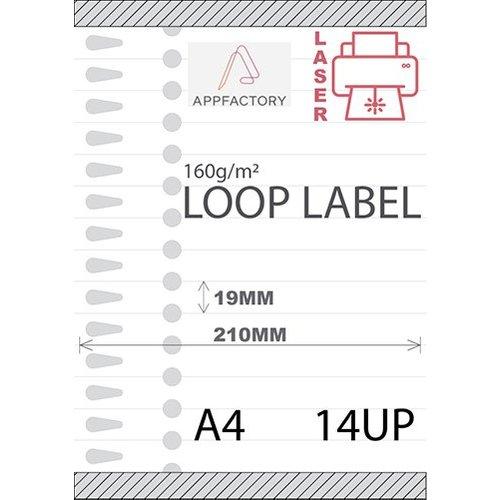 Loop Label 120µ A4 -14 p/sheet