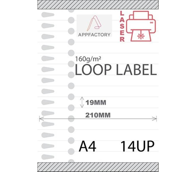 Loop Label 120µ A4 -14 p/sheet