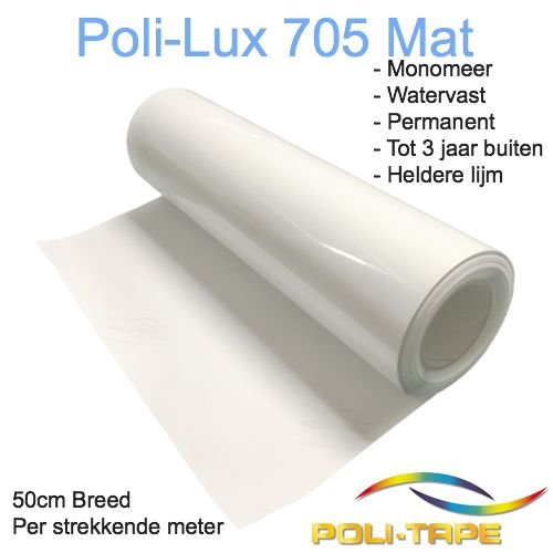 Poli-Lux 705 - Monomeer laminate film matt - 50cm wide, p/mtr - Copy