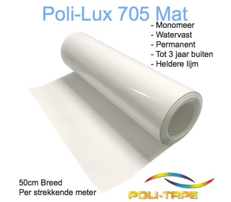 Poli-Lux 705 - Monomeer laminate film matt - 30 cm wide, p/mtr