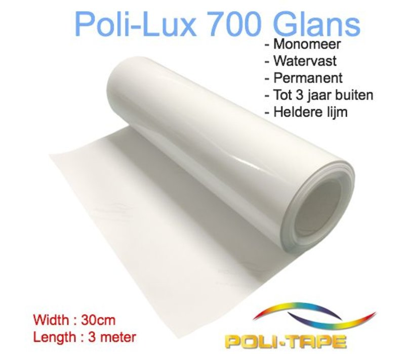 Poli-Lux 700 - Monomer lamination foil glossy - Roll 30cm x 3 meter - Copy