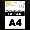 Sunny Papers Inkjet | Sunny Waterslide Decal Paper | Clear | A4
