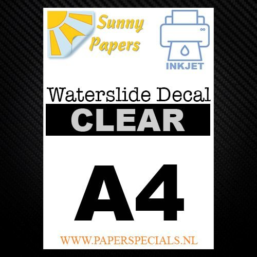 Inkjet Waterslide Decal Papier | Transparant | A4