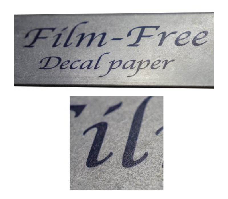Laser | Sunny Film-free Decal Papier | Type A | A3