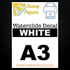 Sunny Papers Inkjet | Sunny Waterslide Decal Paper | White | A3