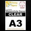 Sunny Papers Laser | Sunny Waterslide Decal Paper Standard 13µ | Clear | A3 - Copy