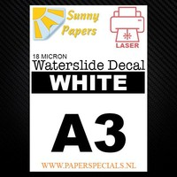 Laser | Sunny Waterslide Decal Papier Standaard 8µ | Transparant | A3