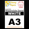 Sunny Papers Laser | Sunny Waterslide Decal Papier Standaard 13µ | Wit (Witte drager) | A3