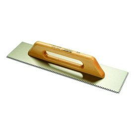 DEKOR NOTCHED TROWEL - Wooden Handle 120 mm