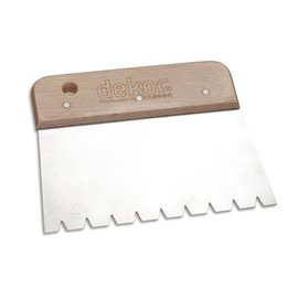 DEKOR PARQUET ADHESIVE SPREADER  - Wooden Handle 170 mm