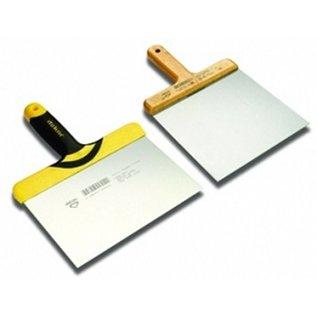 DEKOR DEKOR Stopverf spatel standaard - Houten handvat, 160x165 mm RVS