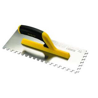 DEKOR NOTCHED TROWEL - Soft Handle 120 mm