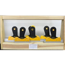 TEPE DEKOR Verzamelbak set houten handvat 63,5 mm 7 pcs