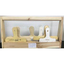 TEPE TEPE Verzamelbak houten spackmessen set 63,5 mm (6 stuks, art.145 tot 150)