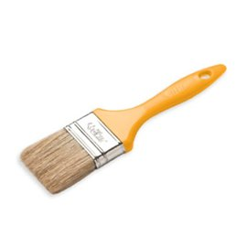 DEKOR FLAT PAINT BRUSH (ECOMIX) - PLASTIC HANDLE 1""