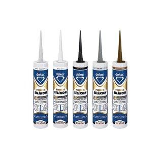 DEKOR DEKOR Premium 100% silicon grijs 310 ml