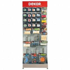 DEKOR DEKOR Dekoratie materilaen complete stand 2,20 x 0,80 x 0,44 m.