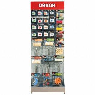 DEKOR DEKOR Decoratie materialen complete stand 2,20 x 0,80 x 0,44 m.