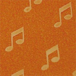 DEKOR DEKOR Deroratief Muzieknotestempel 9x7 cm