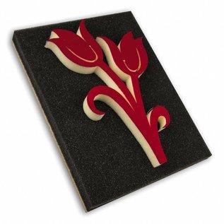 DEKOR DEKOR Decorative Double tulip stamp (Large) 15x20cm