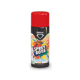 DEKOR DEKOR spray paint rood fluoriserend verf (400ml)