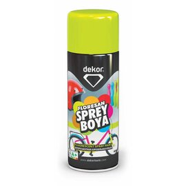 DEKOR DEKOR spray paint geel fluoriserend verf (400ml)