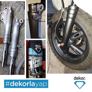 DEKOR DEKOR Spray paint Black/Metallic (400ml)